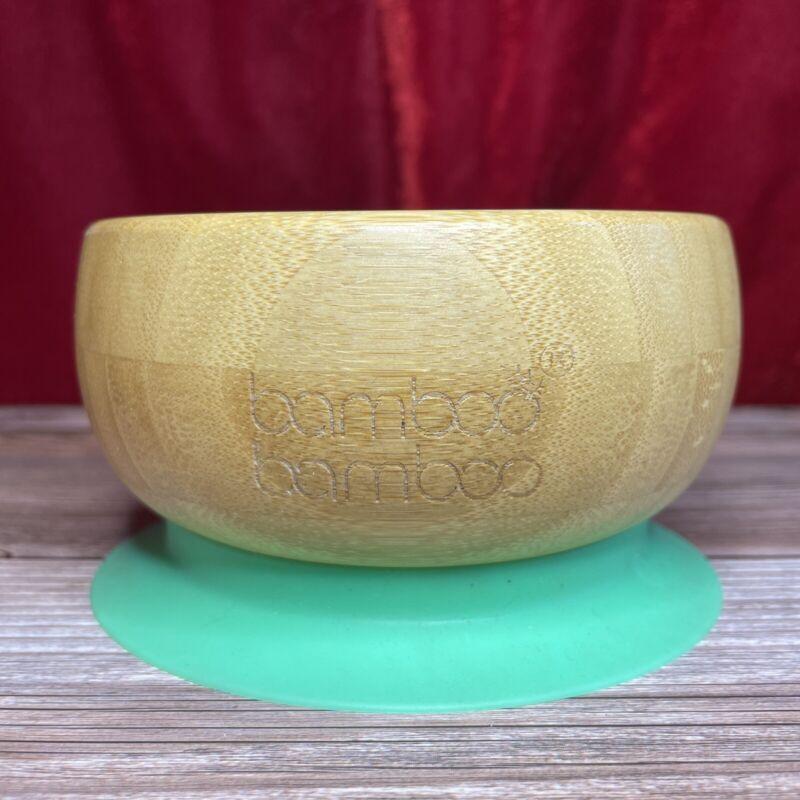 Green Bamboo Bamboo Suction Baby Bowl Toddler No Throw