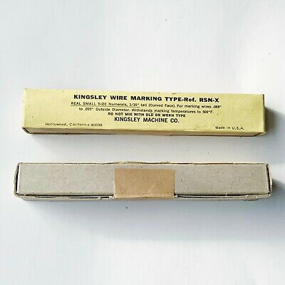 Kingsley Machine Type - Wire Marking Type - Ref. Rsn-x Hot Foil Stamping- New