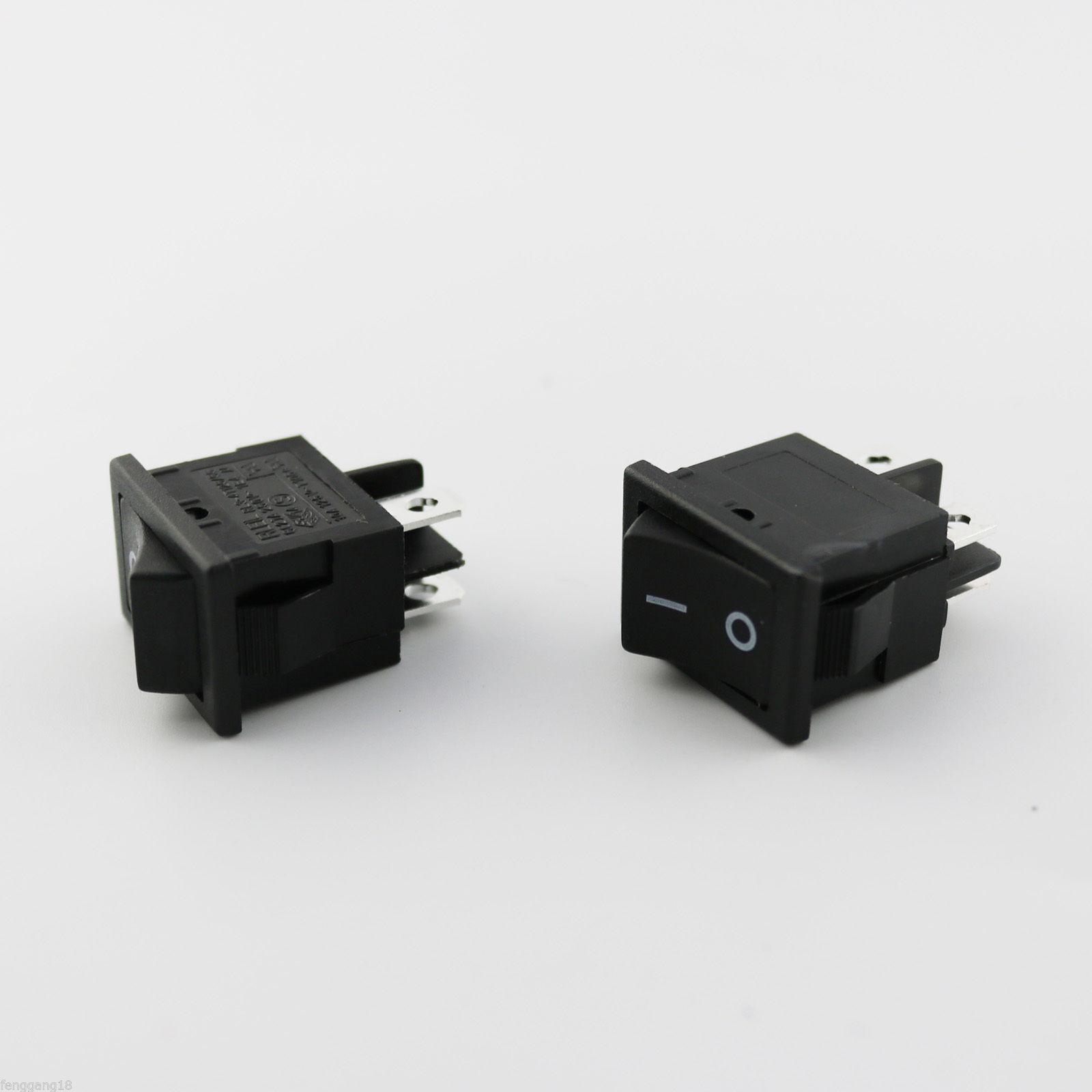 Red RLEIL Rocker Switch On//Off No Neno Lamp 4P DPST 10A//6A 125V//250V AC RL3-421