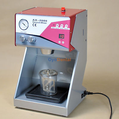 8mil Vacuum Mixer Dental Lab Equipment Built-in Pump Mixing Machine Ax-2000cplus