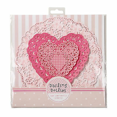 Pink Doilies, lovely design and great quality 30 in pack