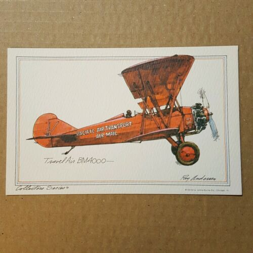 Купить Travel Air BM4000 Collector Series Roy Andersen pacific transport litho Postcard
