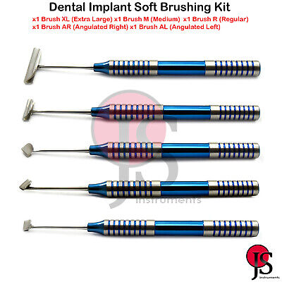 Dental Soft Brushing Kit Implant Surgery Instrument Lingual Tissue Flap Surgical