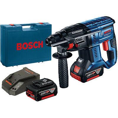 Bosch Akku-Bohrhammer GBH 18V-20 2x 5,0 Ah Akku + Ladegerät im Handwerkerkoffer
