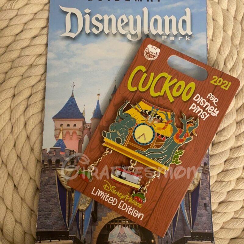 Disneyland 2021 Jungle Cruise Clock Boat dangle Cuckoo for Disney Pins LE Pin
