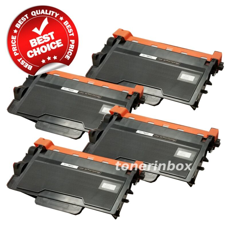 4PK High Yield TN850 Toner Cartridge For Brother TN820 HL-L6200DW MFC-L5800DW