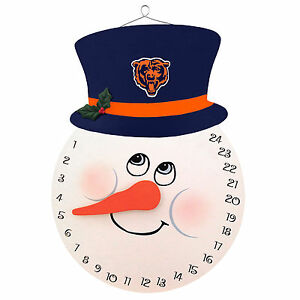 Chicago Bears Snowman Countdown Calendar Advent Christmas