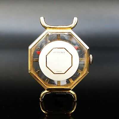 Stunning Vintage Juvenia Octagon Mystery Dial Yellow Gold Lady's Watch NR!
