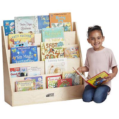 ECR4Kids Single-Sided Book Display - 5-Tier Birch Book Shelf Storage for Kids ()