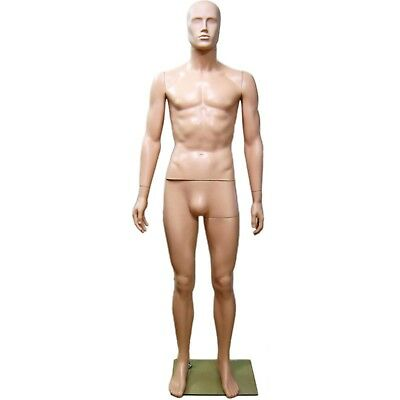 Mn-245 Fleshtone Plastic Abstract Male Full Size Mannequin Removable Head E2