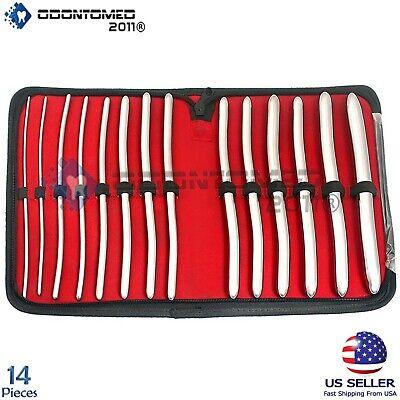 Hegar Uterine Dilators Set Of 14 Pcs Gynecology Instruments