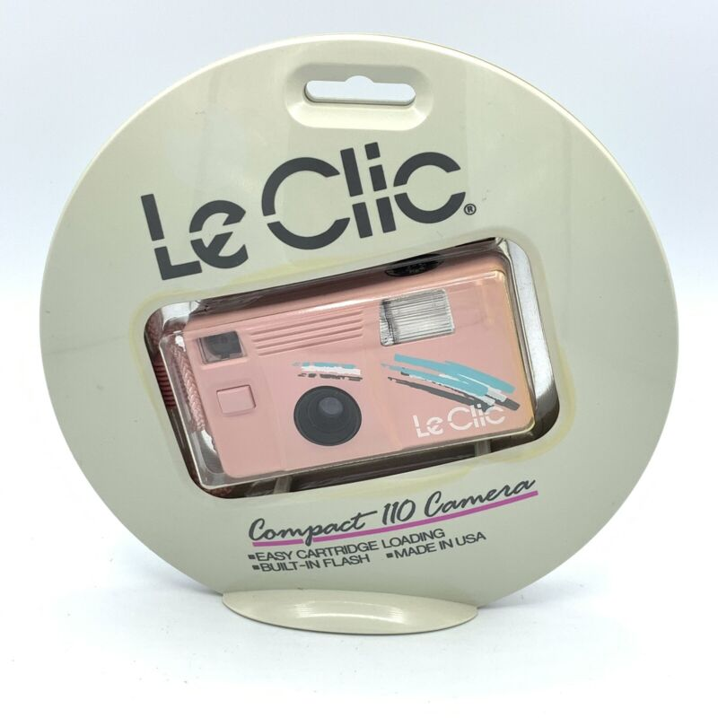 Vintage 80s Le Clic Compact 110 Camera Pink New And Sealed!!! Made In USA
