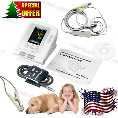 Catdoganimal Automatic Blood Pressure Monitor Contec08a-vet Spo2 Tongue Probe