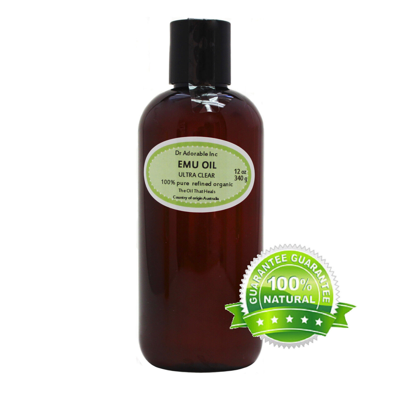 ULTRA CLEAR EMU OIL BY DR.ADORABLE 100% PURE ORGANIC NATURAL