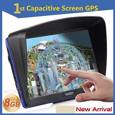 XGODY 886 7'' Car Truck GPS Navigation Free Lifetime Maps 8GB Navigator Sat Nav
