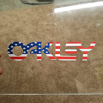 Oakley Logo American Flag Decal Sticker Ski Snowboard Goggles Retro - Novelty Goggles