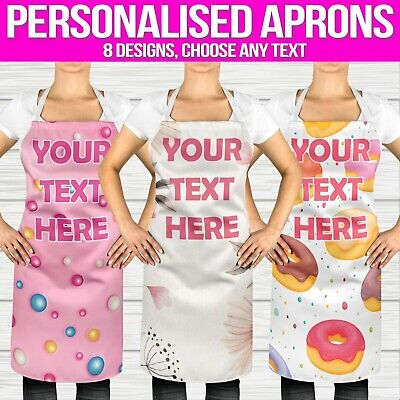Apron Personalised Vintage Womens Kids Funny Novelty Pattern Kitchen Baking Cook