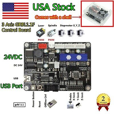 Usa3 Axis Usb 1.1 Grbl Control Board For Cnc Router Milling Mini Laser Machine