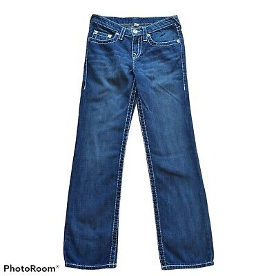 "True Religion Boys Size 14 Big T Straight Wiast: 28""x27.5"""