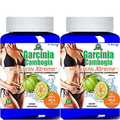 2  100  Pure Garcinia Cambogia Extract Mega Extreme 1000Mg Pure Hca Weight Loss