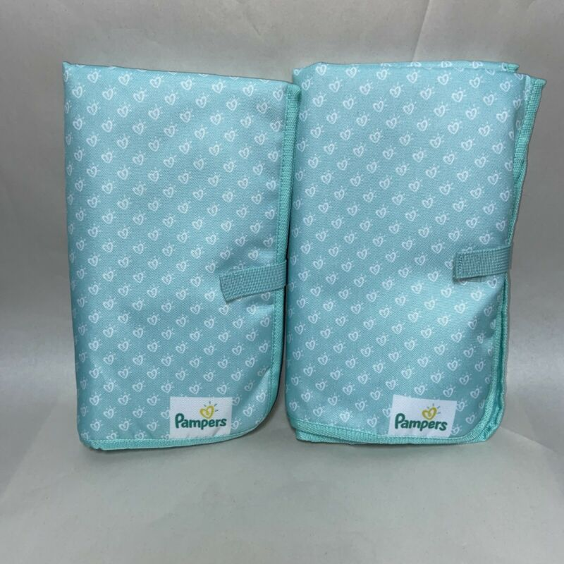 Set Of 2 Pampers Diaper Changing Pads New Without Packaging Teal Green Large