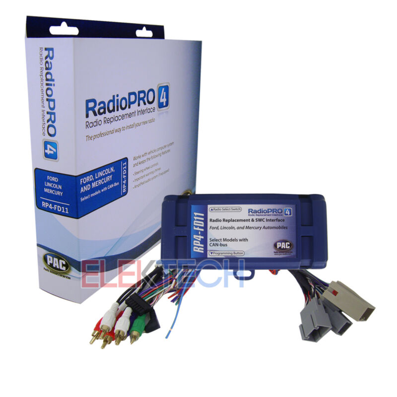 Radio Replacement Interface w/Steering Wheel Controls Retention for Ford Lincoln
