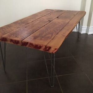 New! Reclaimed coffee/end table pair