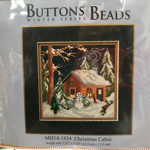 Mill Hill Button Beads Cross Stitch Kit Christmas Cabin Vill
