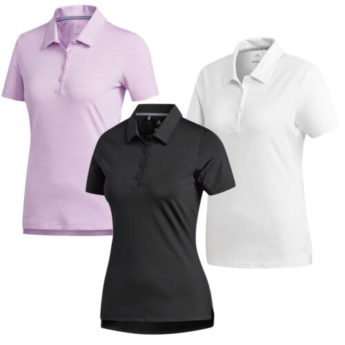 Adidas Ultimate 365 Golf Polo Shirt UV Protection, Black White Pink, WOMENS SIZE