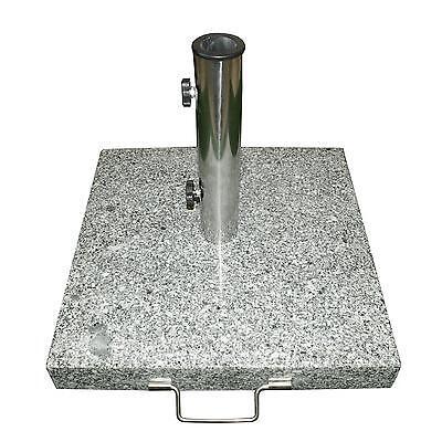 Sonnenschirmständer 25kg Granit/Edelstahl eckig 45cm Schirmständer
