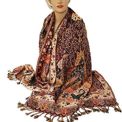 Schal Damenschal warm  Classic Stil Langschal Orient Jamawar 200x70cm Viskose 51 Classic Schal