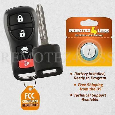 Keyless Entry Remote for 2004 2005 2006 2007 2008 2009 Nissan Quest Fob Car Key