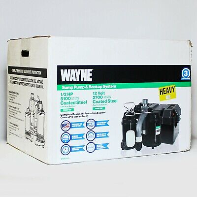 Wayne Wss30vn 12hp 12v Sump Pump Backup System