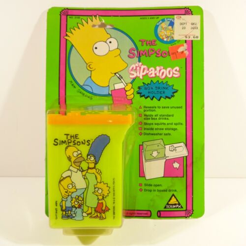 "The SIMPSONS ""SIP-a-ROOS"" BOX DRINK HOLDER by TOYMAX Inc./1990 Matt Groening"