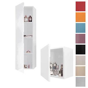 colonna o pensile sospeso bagno moderno 9 colori