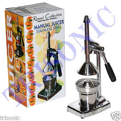 Orange Ovation Press Commercial Pro Manual Citrus Fruit Lemon Juicer Juice Squeezer
