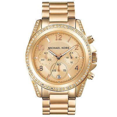 Michael Kors Blair Rose-Gold Watch With Stainless Steel Case and Strap MK5263