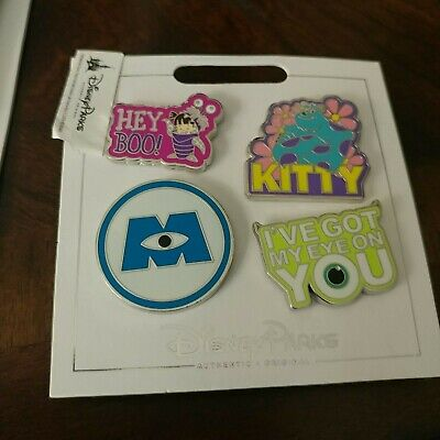 Disney Pins MONSTERS INC  4 Pin Set - Kitty Monsters Inc