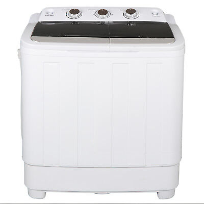 240 High Power Fast Cleaning Twin Tub Washing Machine 17.6Lbs Large Capacity