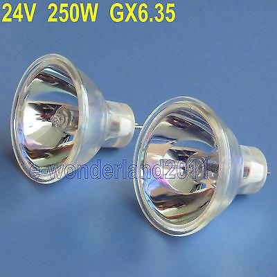 2 x ELC HALOGEN LAMP 24 VOLT 250 WATT 24V 250W For Projector Microscope (24v 250w Halogen Lamp)