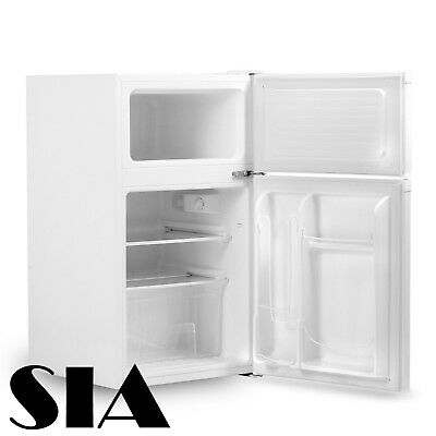 SIA UFF01WH 92L Freestanding White Under Counter 2 Door Fridge Freezer A+ Energy
