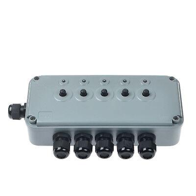 5 Gang Switch Box Ip66 Weatherproof Outdoor Waterproof 15a