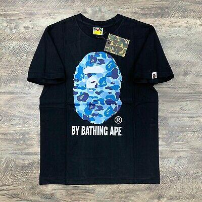 BAPE by A Bathing Ape ABC Camo Blue on Black T-shirt