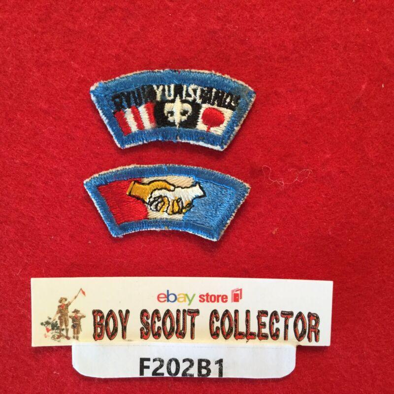 Boy Scout Far East Council Segments Ryukyu Islands & Hand Shake Patches
