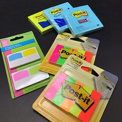 Post-it Notes Lot Variety Refill Pads 3x3 Pop Ups Super Sticky Tabs Page Markers