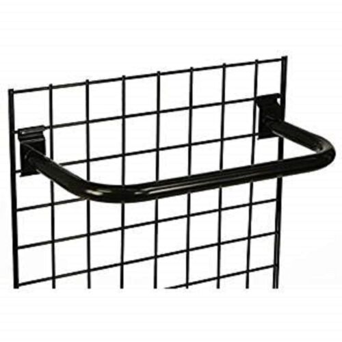 "Only Hangers 24"" Metal ""U"" Rail for Gridwall - Black"
