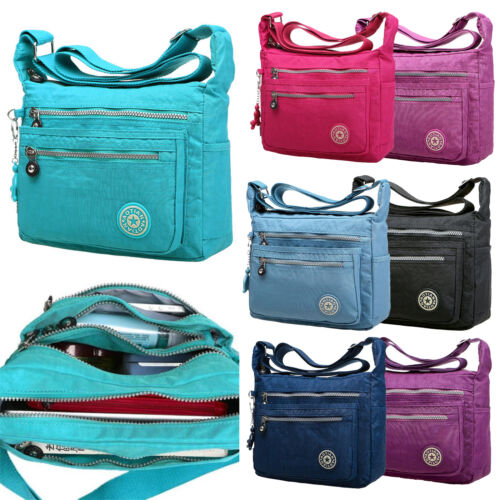 Damen Umhängetaschen Handtasche Messenger Schultertasche Canvas Schule Taschen
