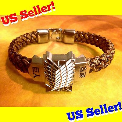 Attack On Titan Scouting Legion Survey Corps Leather Bracelet Anime Manga Cute