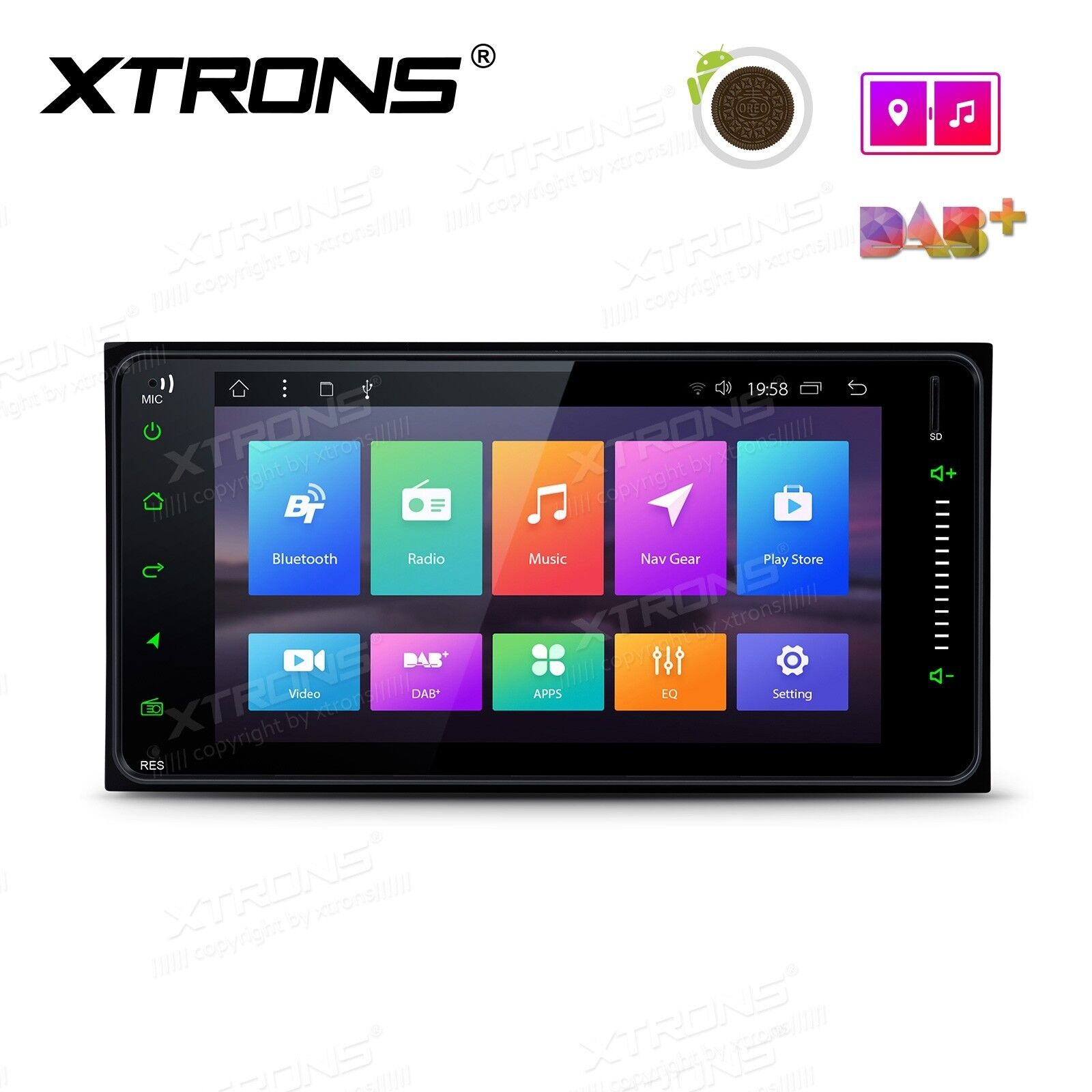 """7"""" Android 8.1 Octa-Core Car Stereo Smart Multimedia Player TOYOTA - PR78HGTL"""