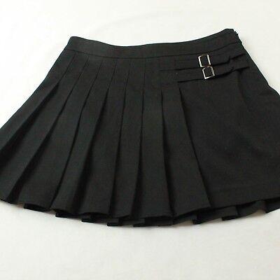 NEW Bebe Mini Asymmetrical Skirt Women's Size 0 Zero Black Pleated NWT